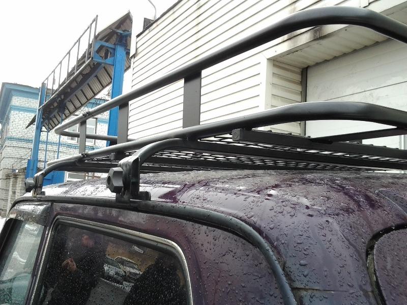 Как на ниву сделать багажник на крышу